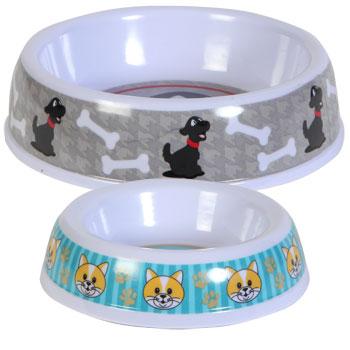 Dog Bones and Cat Paw melamine bowls.