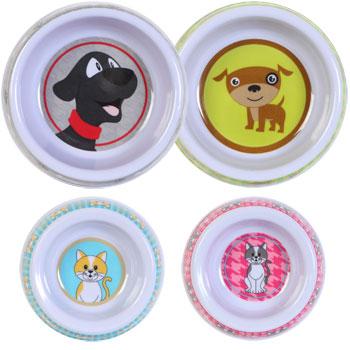 Dog and Cat melamine bowls.