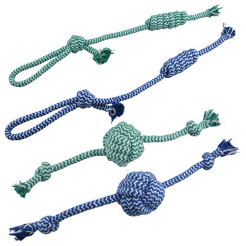 A durable chewy rope toy for dogs.