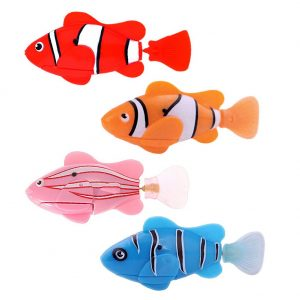 Stickpets cheap dog cat and fish supplies stickpets for Robot fish toy